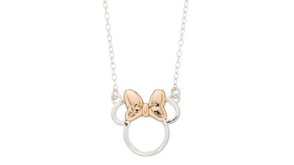 Gifts for Disney lovers: Disney sterling-silver Minnie Mouse necklace