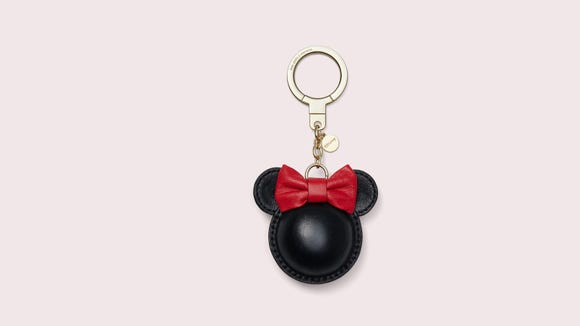 Gifts for Disney lovers: Kate Spade New York x Minnie Mouse keychain
