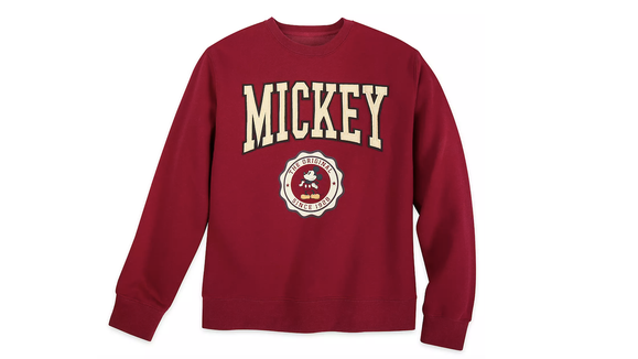 Gifts for Disney lovers: Mikey Varsity sweatshirt