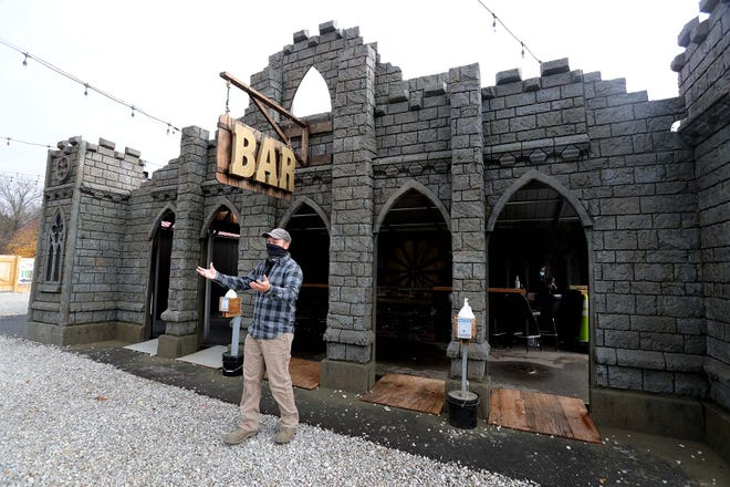 Production manager Liam Roth talks about the new outdoor bar at the Haunted Schoolhouse in Akron. The Haunted Schoolhouse will be open on Friday the 13th.