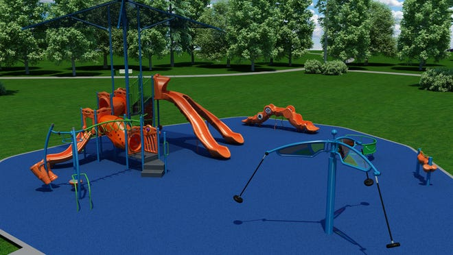 The playground equipment planned for Johnson  Park will be wheelchair accessible.