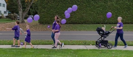 The family of Alzheimer's Association board member Chris Gruber, of Northampton, is ready to participate in the Walk to End Alzheimer's this weekend.