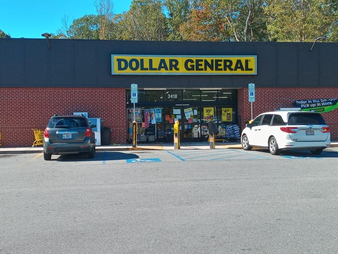 The new Dollar General being built at 615 S. Fayetteville St., Asheboro, will be similar in appearance to this one at 3404 US 220 Business South in Asheboro.