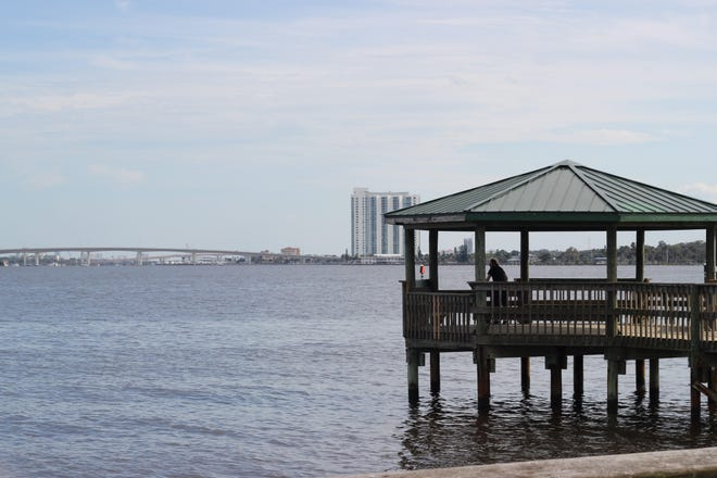Holly Hill's Sunrise Park is just north of the canal in which thousands of gallons of sewage were spilled as a result of a suspected lightning strike on Tuesday