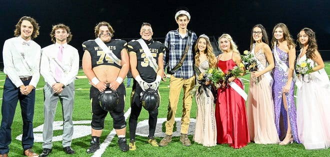 Western Wayne celebrated Homecoming in the best possible way this past weekend. The Wildcats defeated Wallenpaupack Area 35-27 in Week Six Lackawanna Football Conference action at Sharkey Rosetti Memorial Stadium. Pictured here are (from left): Matt Henneforth, Matt Leslie, Julien Walck, Zane Janiszewski, Colin Mead, Lena Piccolino, Cassidy Asinski, Jada Siino, Sydney Hutchinson, Madison McGlone.