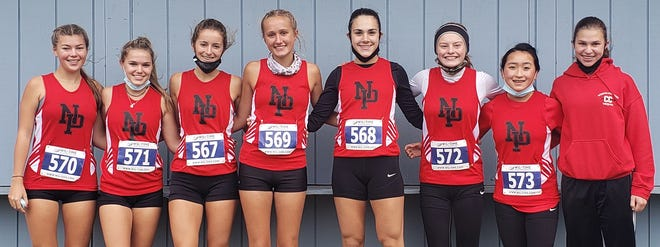 Competing at the PIAA District 2 AA cross country finals for North Pocono were Kaylee Horne, Emily Olenchak, Morgan Davis, Emily Franklin, Madison DeStefano, Lauren Pozluszny, Gwendolyn Powell, and Maggie Haines. The Lady Trojans notched an overall second place finish at the annual championships.