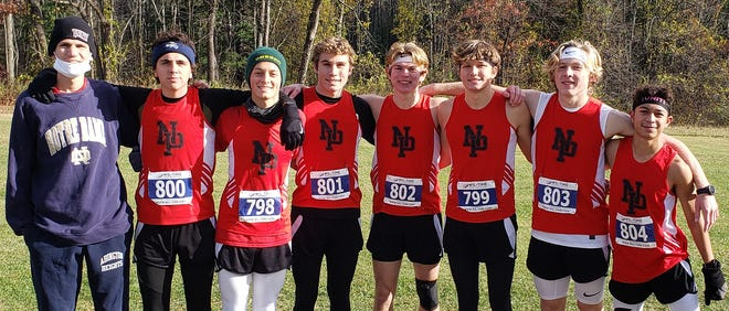 North Pocono's Bruce Haines, Caleb Kenyon, Aiden Clarke, Travis Lane, Owen Foytack, Noah Salak, and Ashton Sciulara reeled in an overall second place team finish at the PIAA District 2 AAA Championships. The Trojans went 6-0 in the regular season to hoist the Lackawanna League banner.