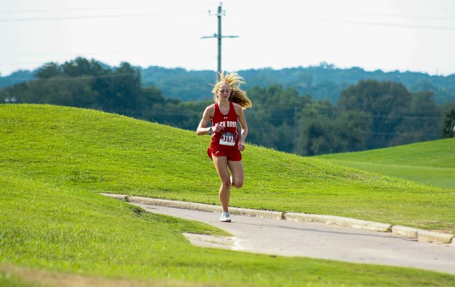 For the fourth time in her high school career, Glen Rose senior Jocelyn Mims (seen here in action earlier in the year at Squaw Valley Golf Course) has qualified for the UIL Class 4A State Cross Country meet. Mims completed the 2-mile course at Mae Simmons Park in Lubbock in 13 minutes, 10.40 seconds in placing 11th overall on Tuesday in the Region I Cross Country Championships. She will compete at the UIL Class 4A State Meet on Tuesday, Nov. 24, at 11:45 a.m. at Old Settler's Park in Round Rock.
