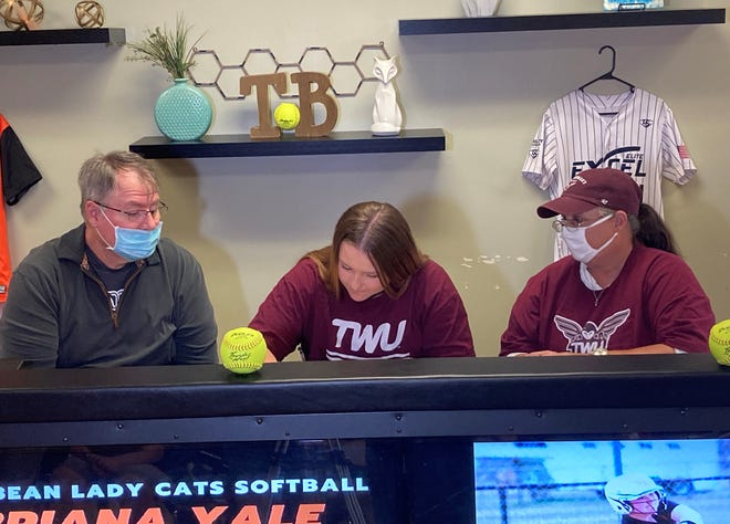 Tom Bean's Bri Yale signs to play softball for Texas Woman's University.