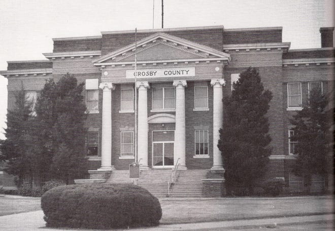 1. The Crosby County Courthouse, site of the killings of Maud Rippy and James Sweazea, 1923.