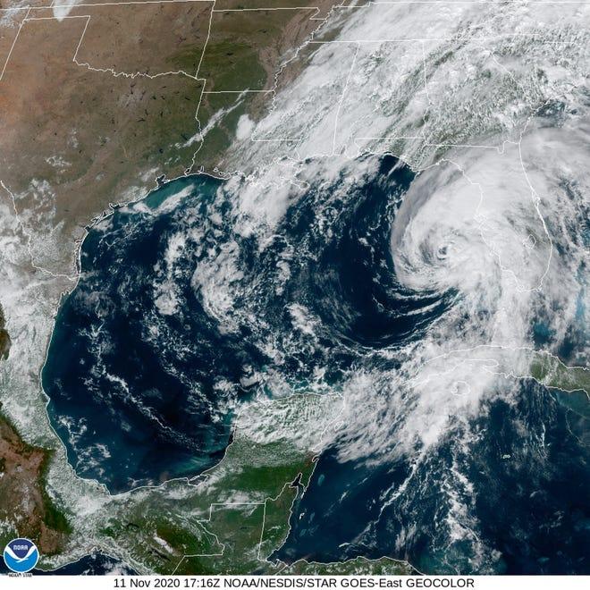 Hurricane Eta was approaching the Florida Gulf Coast at noon Wednesday.