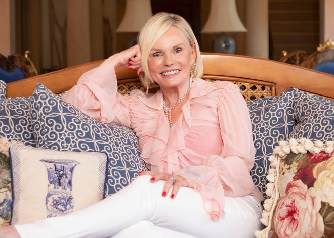 Author Deborah Robinson in her Palm Beach home on Nov. 5. (DAMON HIGGINS/THE PALM BEACH DAILY NEWS)
