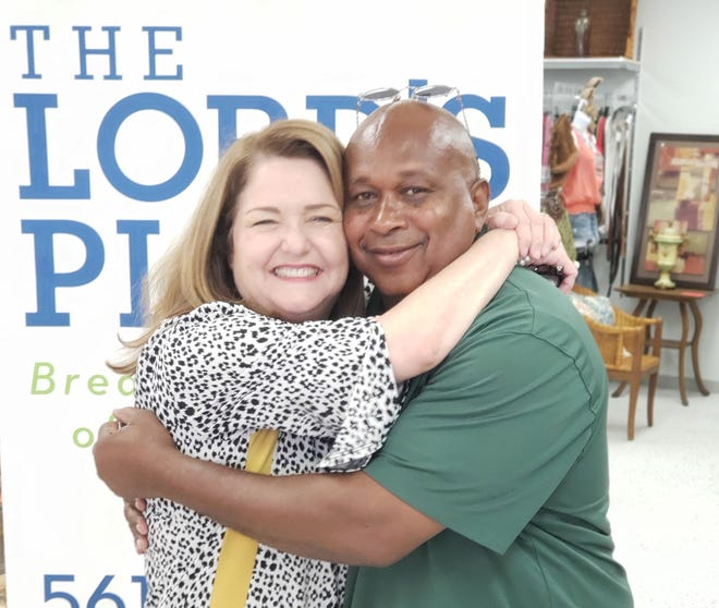 Wallace 'Pete' Lurry, with The Lord's Place CEO Diana Stanley, whose organization helped him when he was homeless.