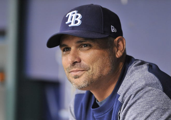 Tampa Bay Rays manager Kevin Cash was named the American League Manager of the Year on Tuesday.