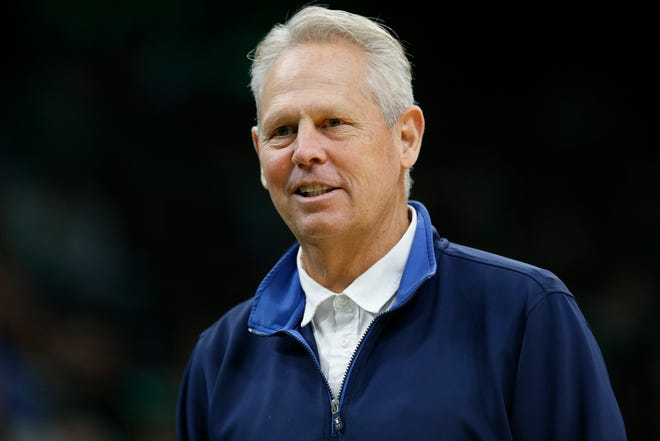 Celtics general manager Danny Ainge says the team is trying to make deals ahead of the Nov. 18 NBA draft. [usa today sports / Greg M. Cooper]