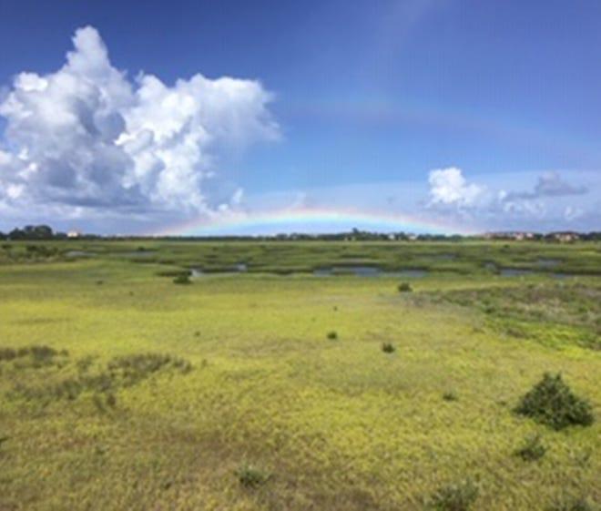 Beautiful, but brief, rainbow over Vilano.
