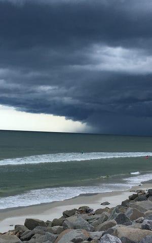 Storm at Matanzas Inlet.