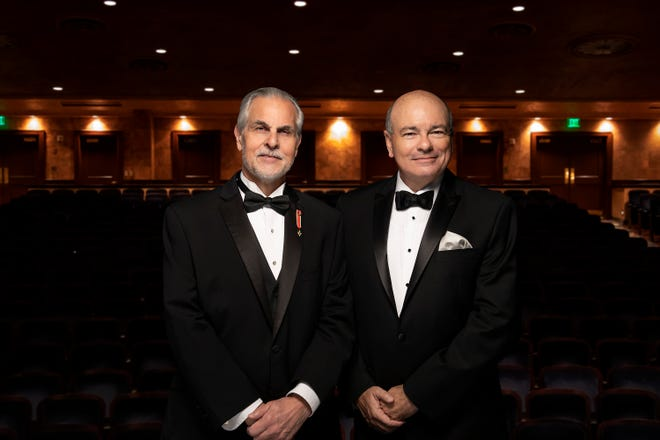 Sarasota Opera Artistic Director Victor DeRenzi, left, and Executive Director Richard Russell announced plans for a series of one-act, smaller-cast productions for the 2021 winter season.
