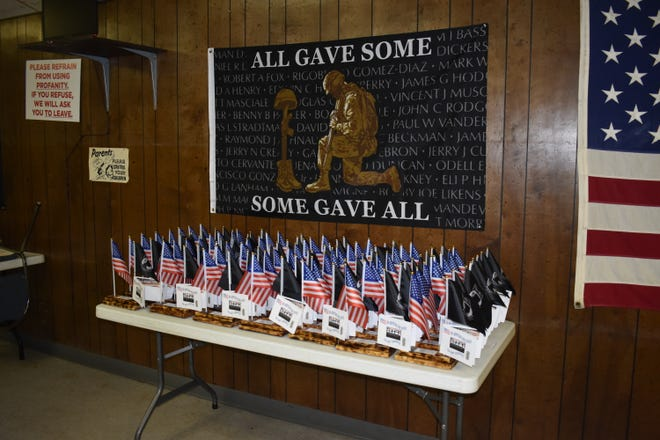 There were 56 handmade plaques delivered to local veterans Wednesday, on Veterans Day, in honor of their service.