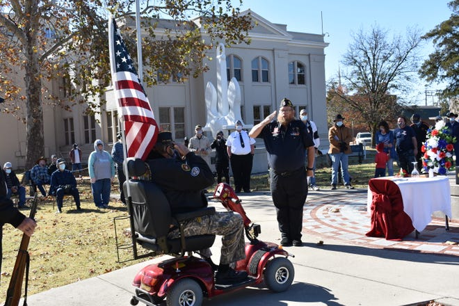 Veterans Day 2020 at the Oklahoma Veterans Memorial in Woodland Veterans Park in Shawnee.