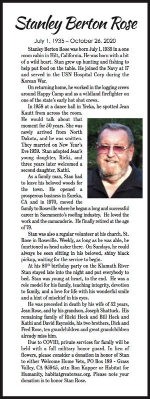 Obituary: Stanley Rose