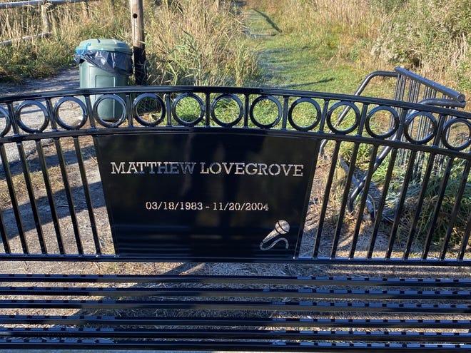 New Matthew Lovegrove memorial bench