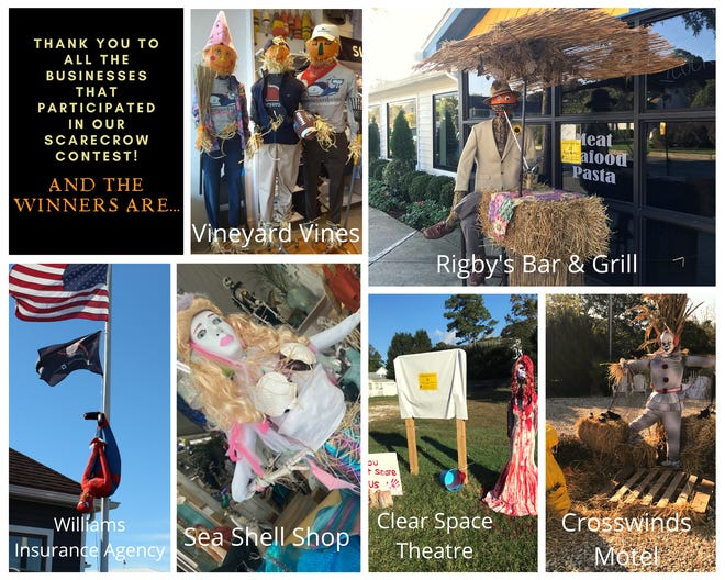 The Rehoboth Beach–Dewey Beach Chamber of Commerce announced the winners of its Scarecrow Decorating Contest for businesses, held in October.