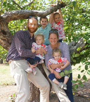 Jaime Rose, of Six Roses gift shop, is married to her husband Dan. They have four children.