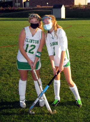 The Clinton High field hockey green captains are sophomores Hannah Zentgraf and Grace Nelligan.