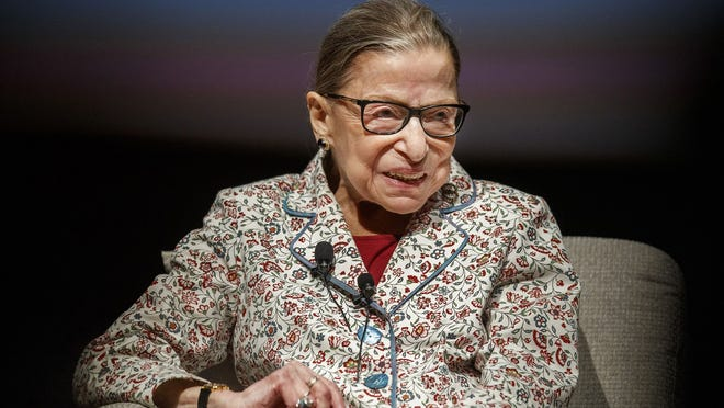 Supreme Court Justice Ruth Bader Ginsburg at the University of Chicago on Sept. 9, 2019.