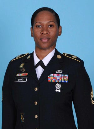 Sgt. 1st Class Nikyisha T. Boyd died Monday after a car accident on Fort Bragg.