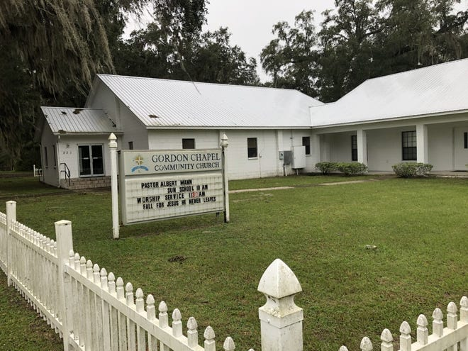 Gordon Chapel Community Church, at 421 Gordon Chapel Road in Putnam County, sits close to the Alachua County line in Hawthorne. It's at the center of a COVID-19 outbreak. (Sarah Nelson/Gainesville Sun)