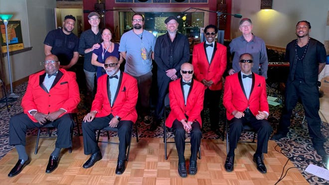 The Rev. Julius Love of Gadsden, far right on the front row, has officially become the newest member of the famed Blind Boys of Alabama singing group.