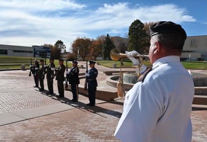 Members of the Pueblo Veterans Ritual Team participated in a virtual Veterans Day celebration held by Colorado State University Pueblo.