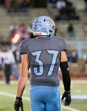 Pueblo West High School senior David Lambert is one of the Cyclones' starting outside linebackers and the team's starting fullback. He also plays baseball for the school.