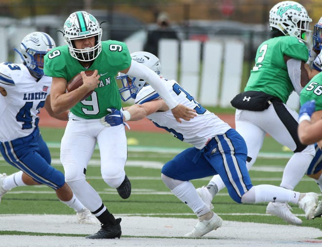 Senior quarterback Connor Mathews was second-team all-district and first-team all-league for Coffman. He completed 86 of 134 passes for 1,126 yards with six touchdowns and five interceptions and rushed for 657 yards and seven scores on 98 carries.