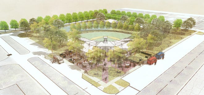 This rendering shows what the Miracle League of New Albany facility should look like when it is completed.