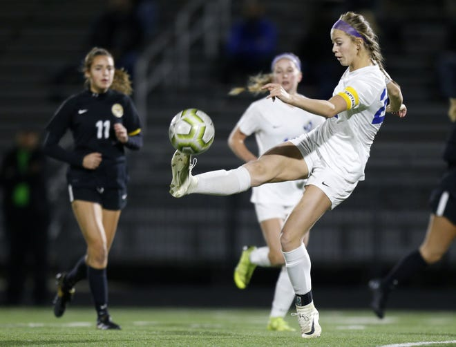Rachel Austin scored two goals as Olentangy beat Centerville 4-1 on Nov. 10 in a Division I state semifinal.