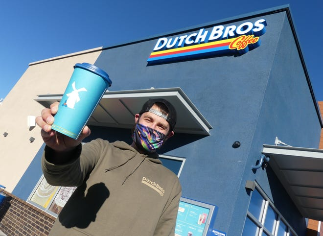 Dutch Bros. Coffee Regional Manager Nick Bates and his local team will open a new double drive-thru location on Friday, Nov. 13, 2020, in Apple Valley.