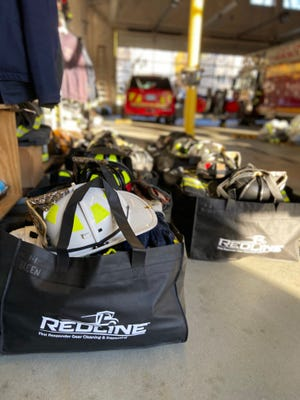 RedLine Gear Cleaning provided an on-premise cleaning of Marlborough firefighters' gear.