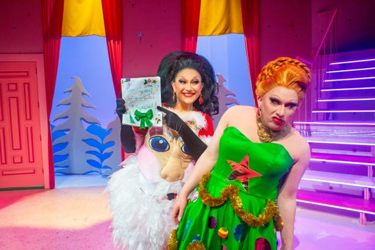"""BenDeLaCreme, left, and Jinkx Monsoon of """"RuPaul's Drag Race"""" fame co-star in """"The Jinkx and DeLa Holiday Special"""" this winter."""