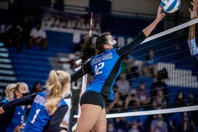 Harper Creek junior Maddie Parker is one of the top middle blockers in the area. But who is No. 1? You can vote in our online poll.