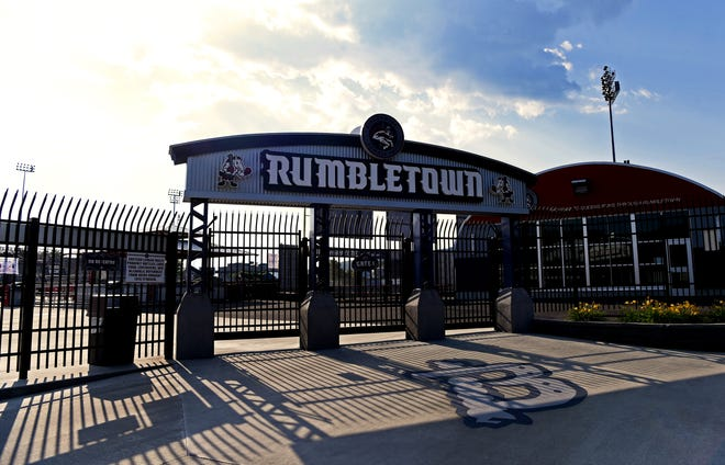 NYSEG Stadium in Binghamton, home of the Rumble Ponies, is shuttered on Thursday, July 2, 2020. Due to the coronavirus pandemic, Minor League Baseball canceled the entire 2020 season, leaving stadiums in New York state communities empty and the future of minor league baseball uncertain.