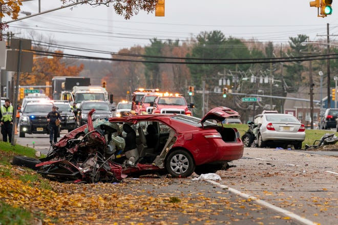 Fatal crash Wednesday morning at Route 130 north and South River Road in Cranbury.