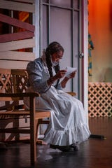 """Performers wore masks to perform """"The Color Purple"""" in the Indiana Performing Arts Centre production."""