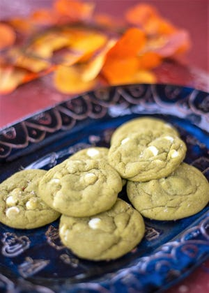 Matcha and white chocolate cookies from Girls Gotta Eat Good bakery. Sept. 24, 2020.