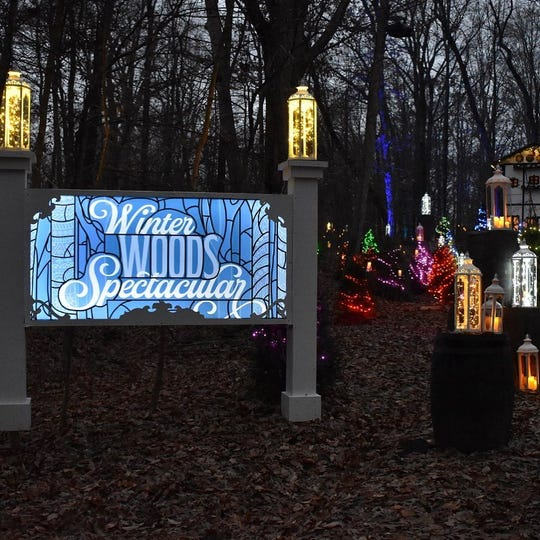 The Louisville Parks Foundation's Winter Woods Spectacular held in Iroquois Park runs Nov 27, 2020 - Jan 2, 2021