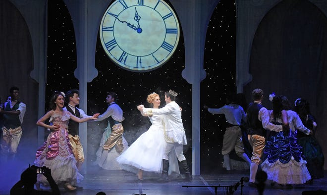 The cast of Rodgers and Hammerstein's Cinderella rehearse Tuesday evening at the Renaissance Theatre.