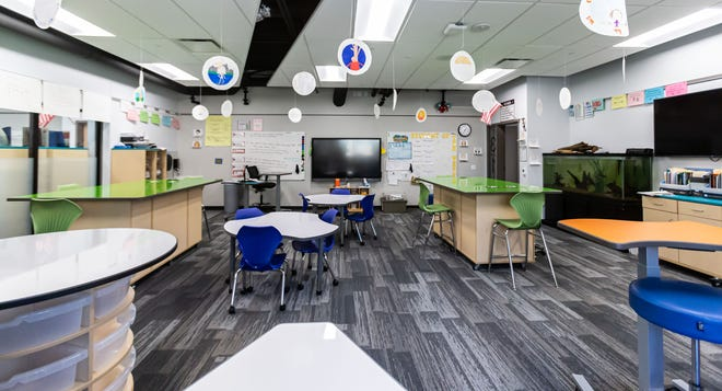 Classrooms at Wauwatosa's newly renovated Lincoln Elementary School feature multiple seating options, plenty of storage and interactive smart boards as seen on Wednesday, Nov. 4, 2020.