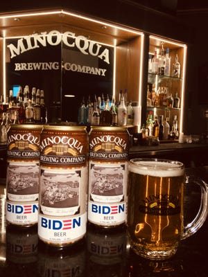 Minocqua Brewing Co., which was nearly fined for its large Biden sign this election season, has introduced Biden Beer.